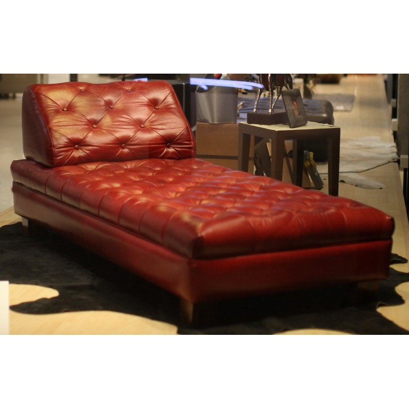 Leather Mine Daybed Red