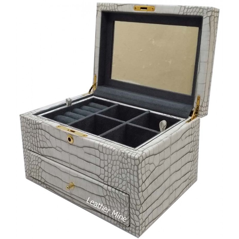 O2253/1 faux crocodile jewelry box
