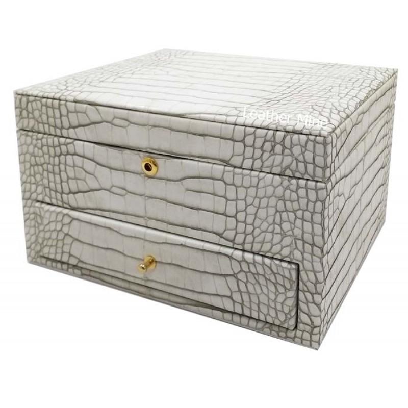 O2253/1 faux crocodile jewelry box