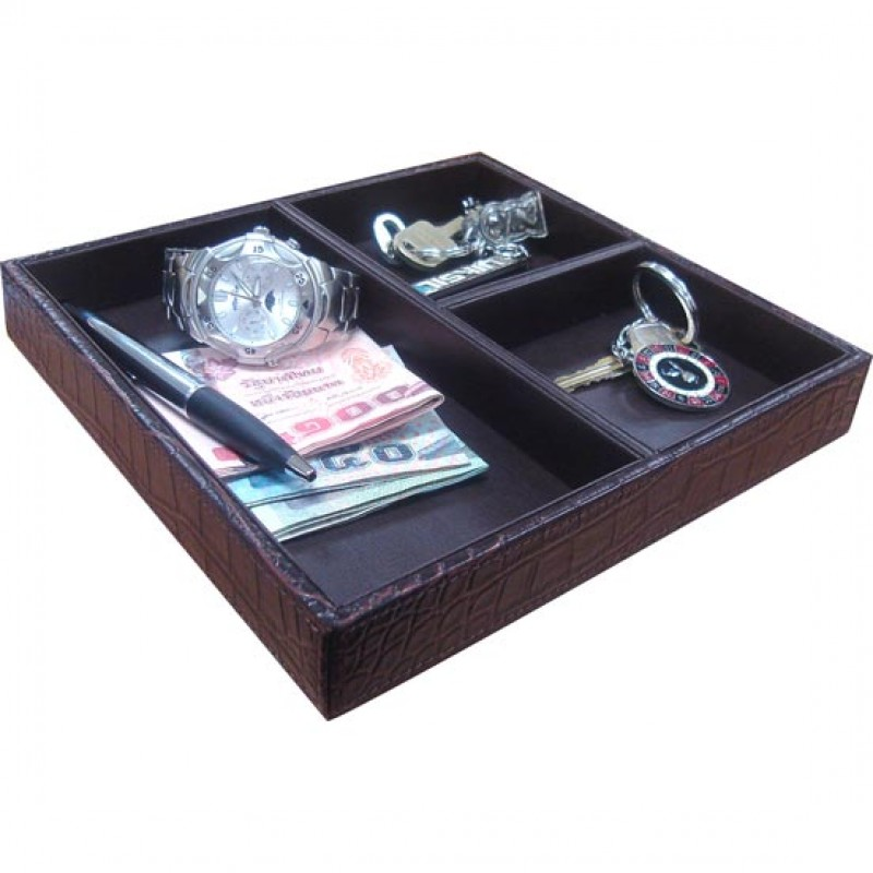 U1145 faux crocodile jewelry tray