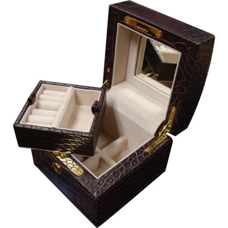 U933/2 faux crocodile jewelry box