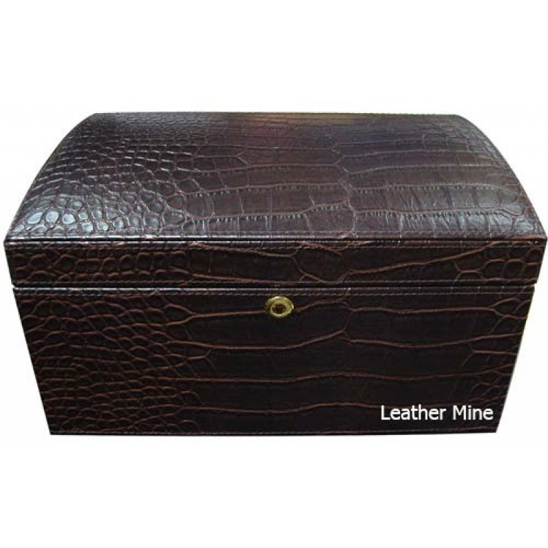 W0129 faux crocodile jewelry box